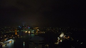 sydney harbour bridge and sydney opera at night